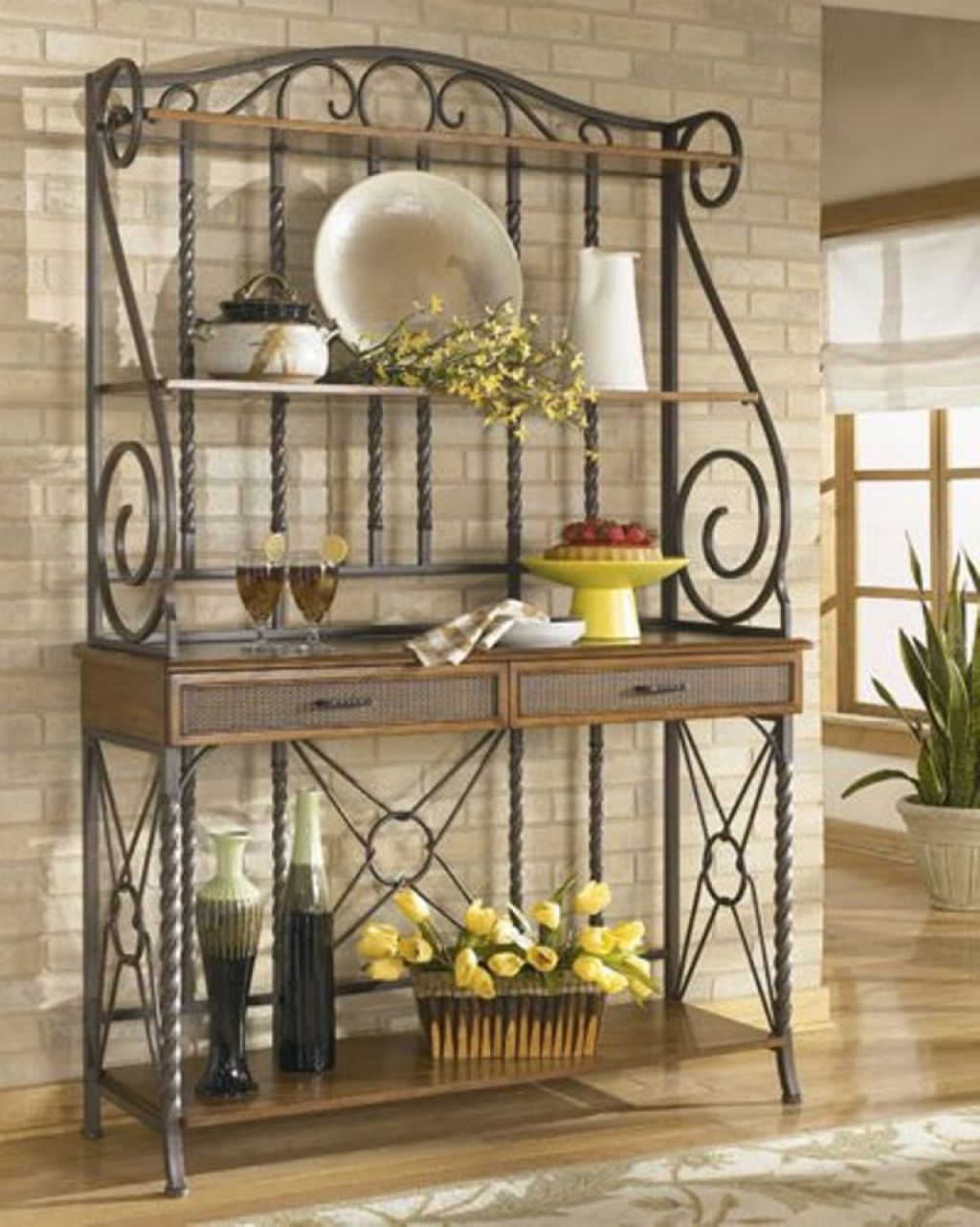 Bakers Rack For A Perfect Addition To Your Kitchen With Images