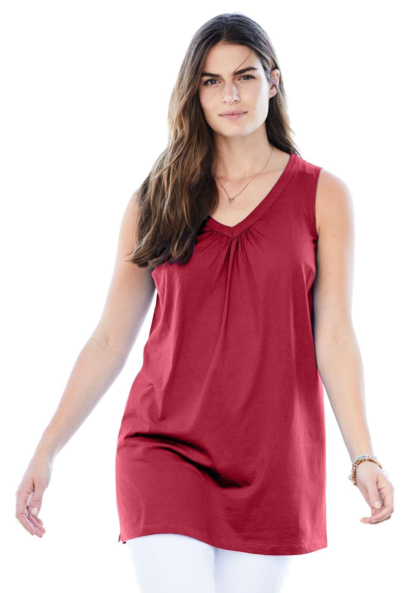 26f26c0f461 Perfect Sleeveless V-Neck Tunic - Women s Plus Size Clothing ...