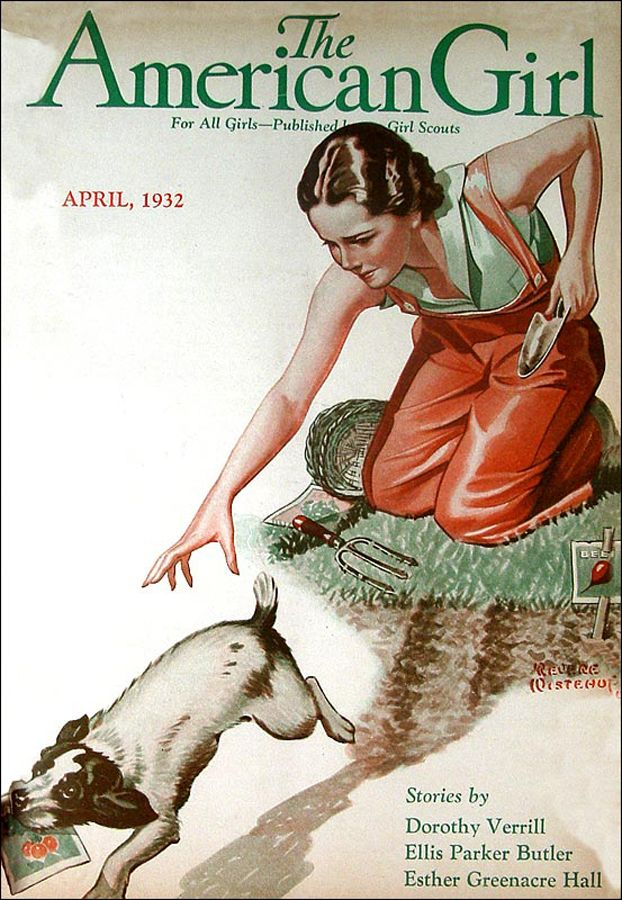The American Girl Cover ILL.  Apr 1932  by  Revere Wistehuf