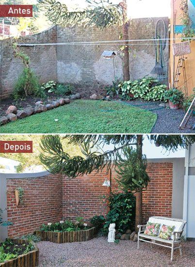 Antes e depois um jardim para aproveitar em fam lia for Reforma piso pequeno