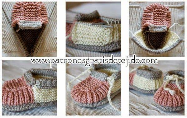 Curso Gratis De Tejido Dos Agujas Patucos Tricot Paso A Paso En Fotos Y Video Crochet Y Dos Agujas Tejer Dos Agujas Patrones Croché