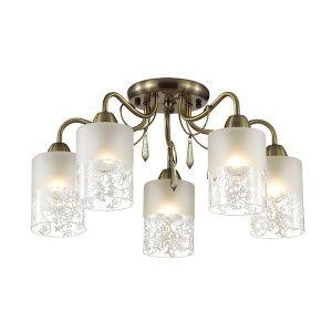 Люстра Lumion IMANI E14 5*60W 220V бронза/стекло/хрусталь 3262/5C 000-399-851
