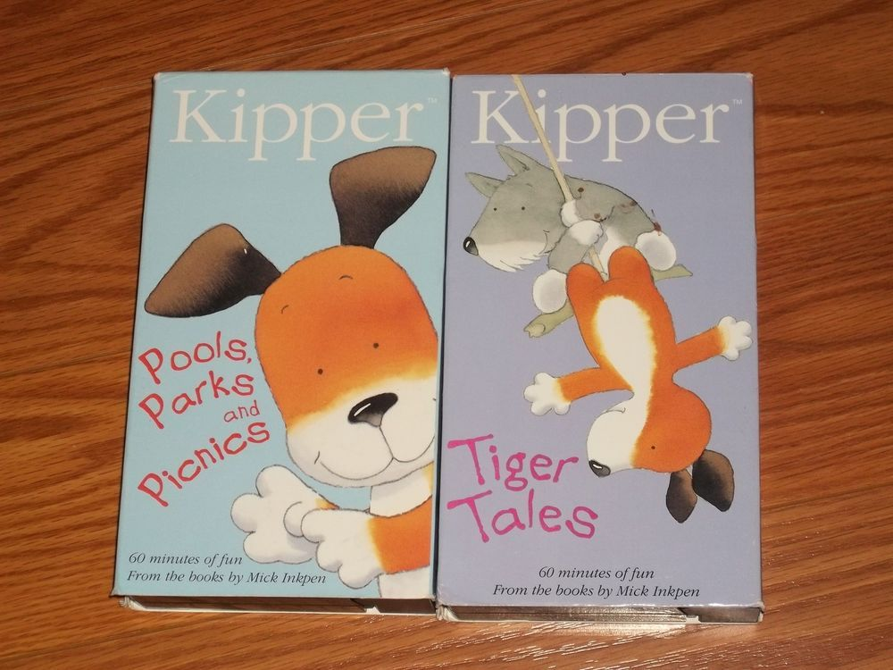 Lot of 2 VHS Video Kipper Pools, Parks and Picnics & Tiger