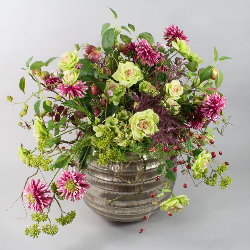 herbst dekoration blumen gestecke silkflowers seidenblumen autumn fall decoration. Black Bedroom Furniture Sets. Home Design Ideas