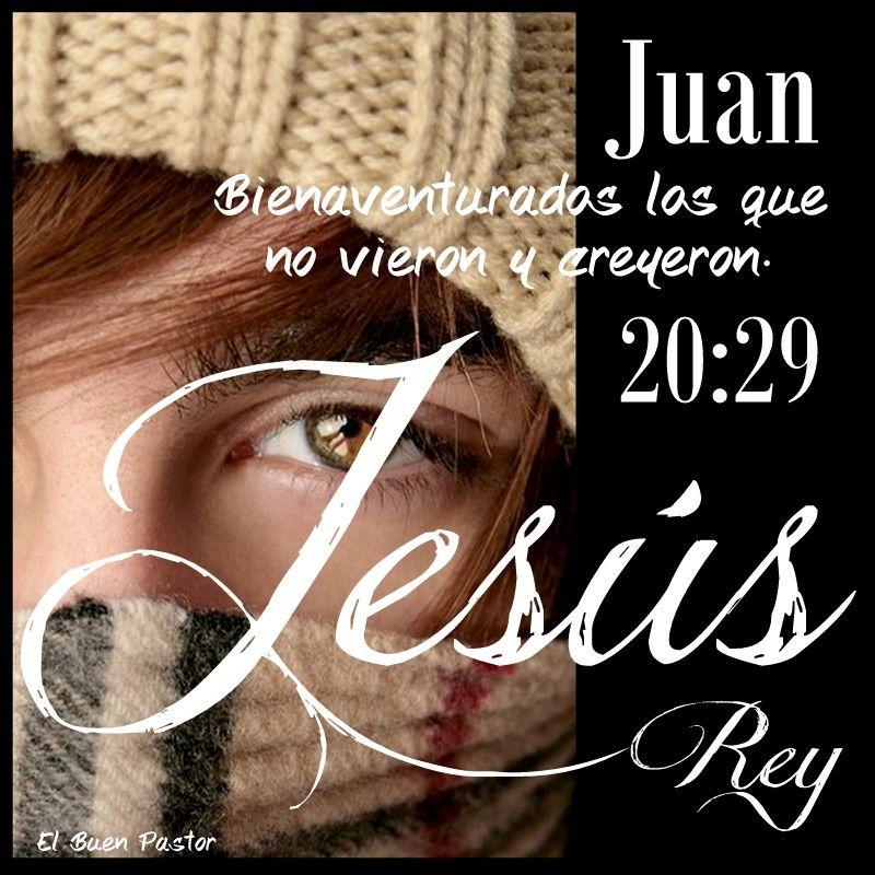 JUAN 20, 24-29 | Bendiciones de dios frases, Escrituras de la ...