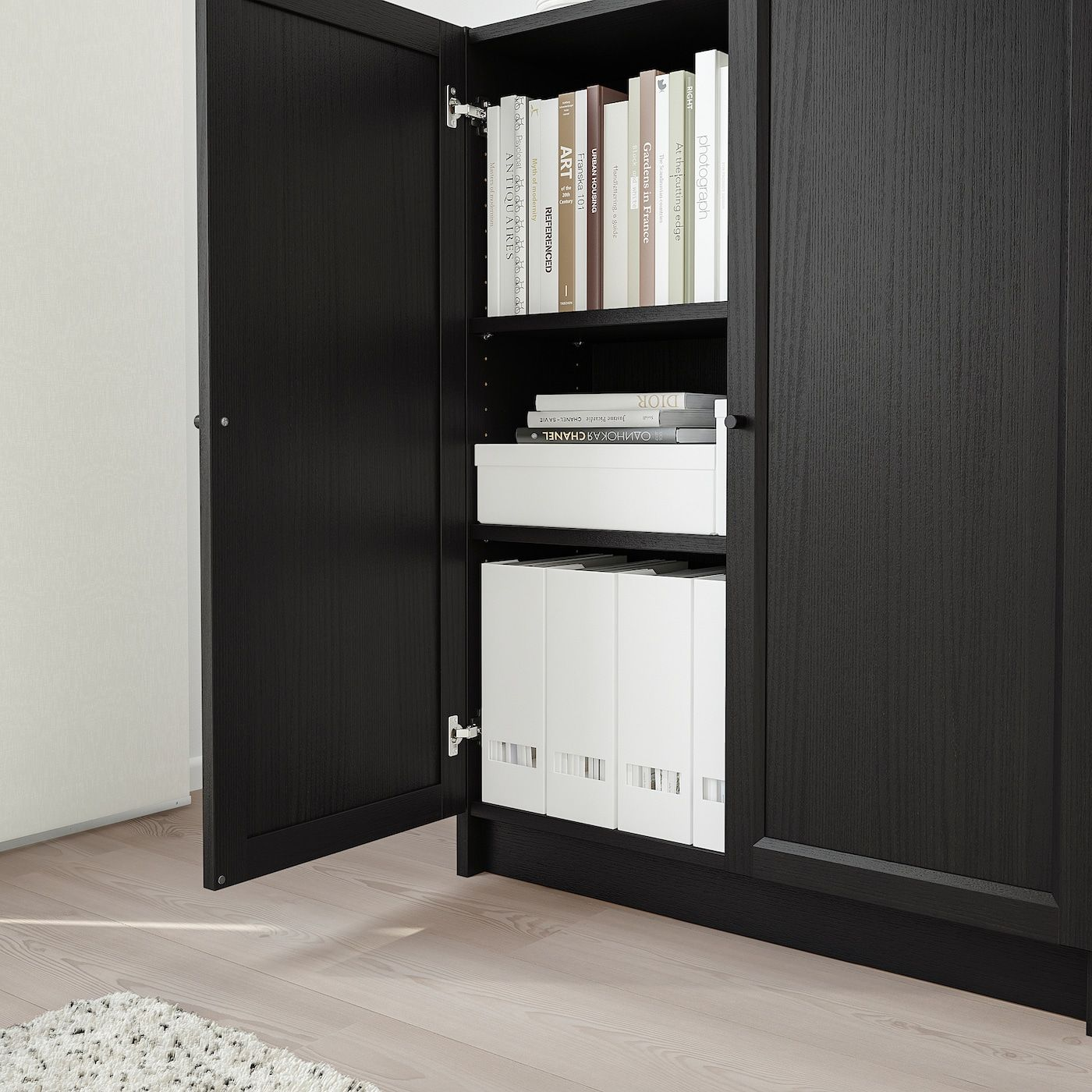 Billy Oxberg Bucherregal Mit Turen Schwarzbraun Ikea Deutschland Billy Oxberg Bucherregal Billy Bucherregal