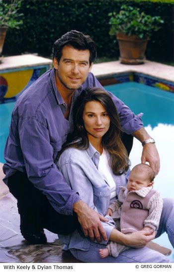 Pierce Brosnan and family