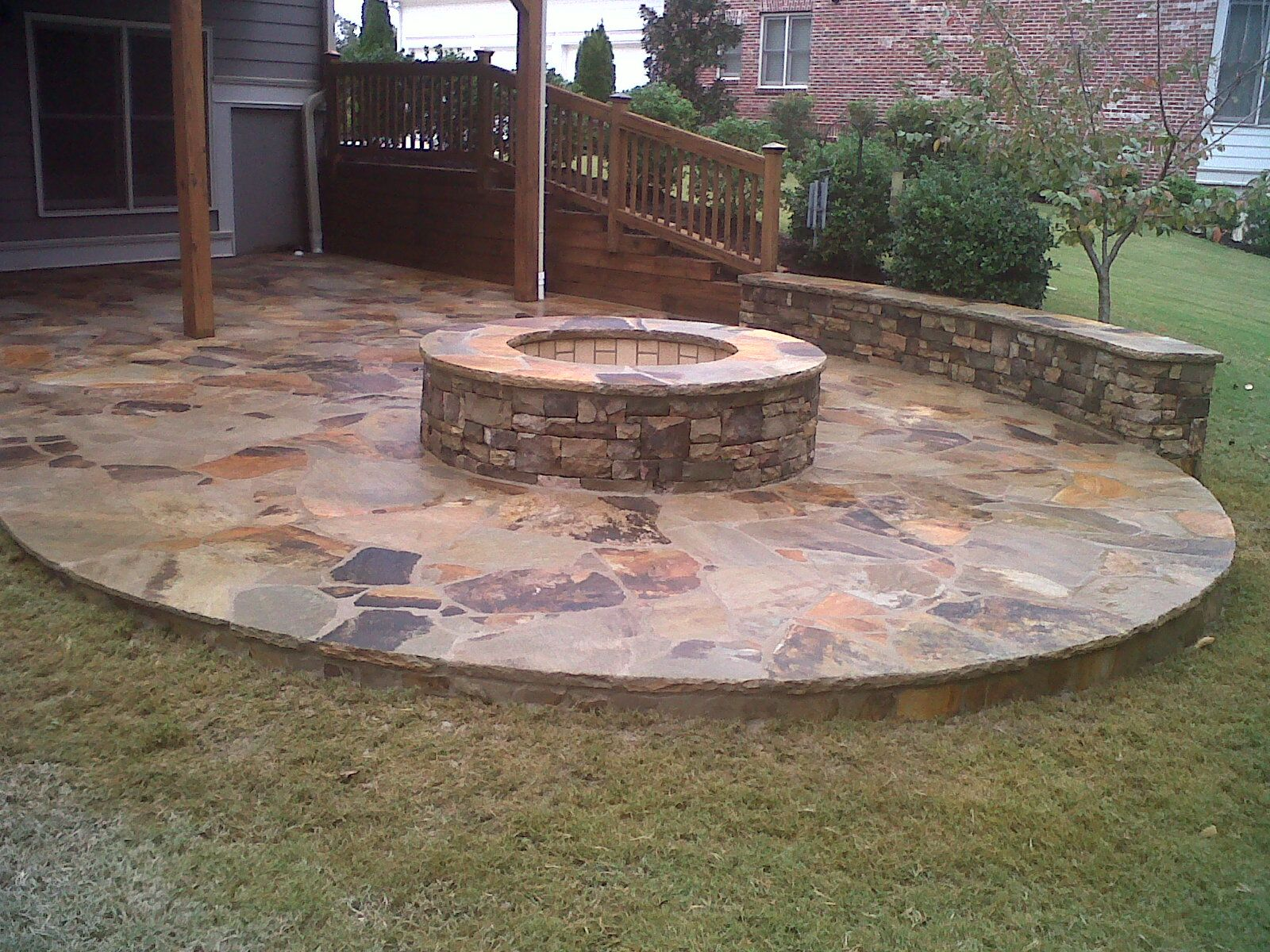 Outdoor Stone Fire Pit.