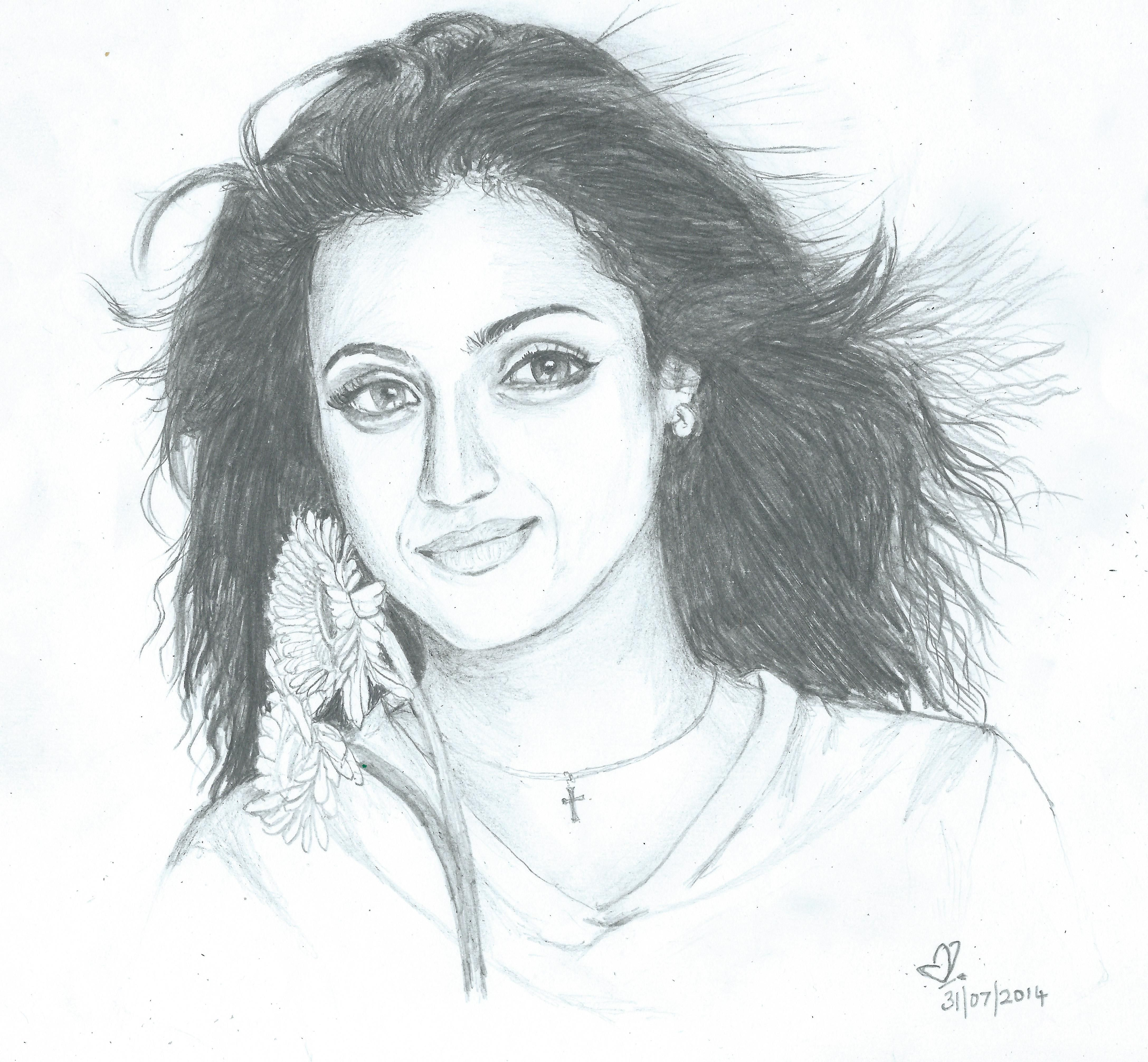 Actress trisha art drawings drawings