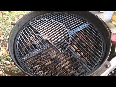cast iron grid big green egg large this clean maintain grate also shown for medium grill cleaning brush