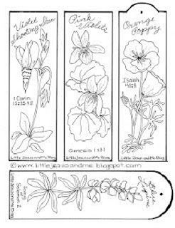 Little Jesus and Me Coloring Pages Bible quotes flower bookmarks