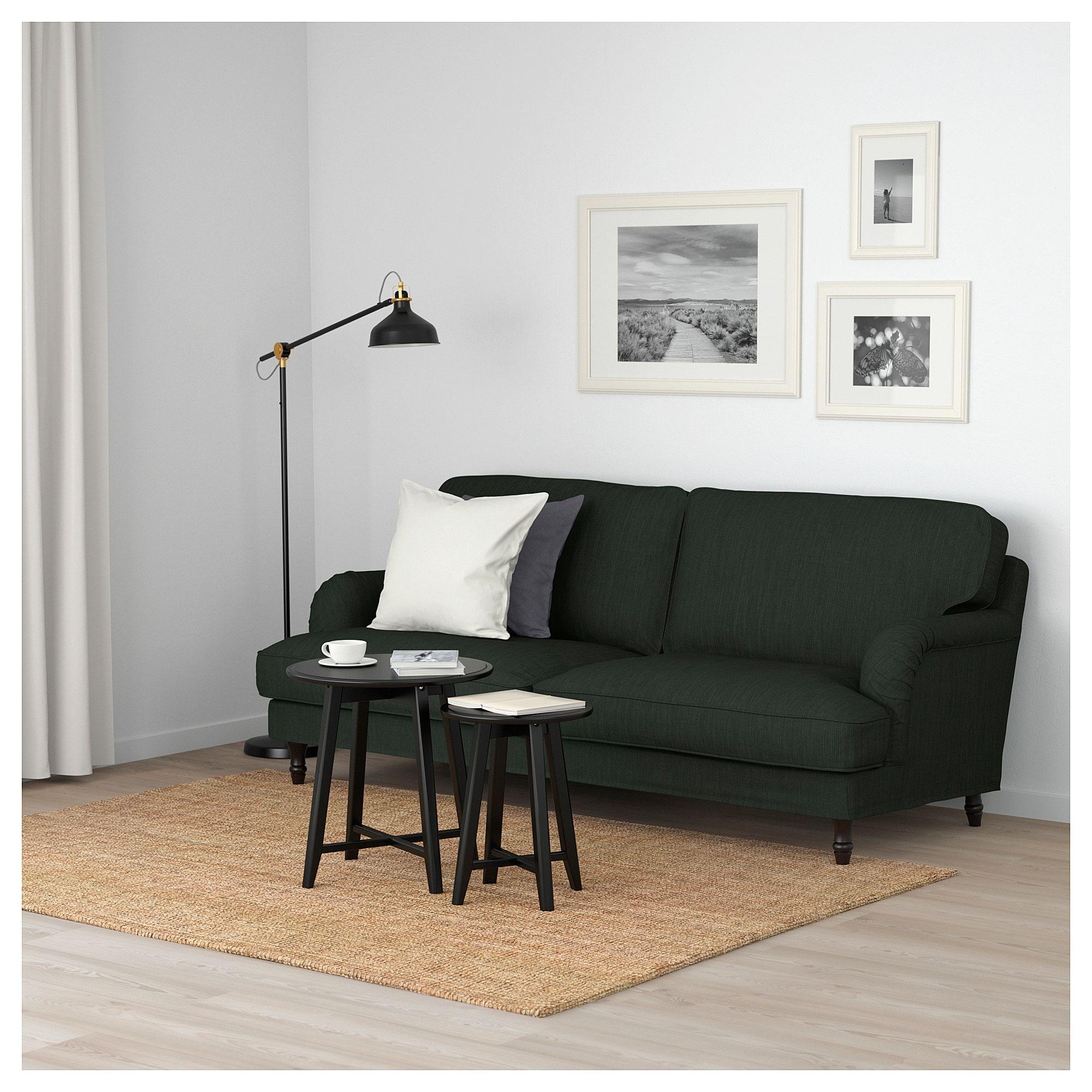 Stocksund Sofa Nolhaga Dark Green Black Wood Stocksund Sofa