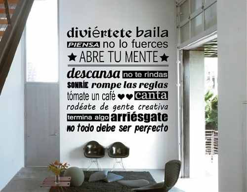 Vinilos decorativos para pared mandanos tu frase regalo - Pegatinas pared frases ...