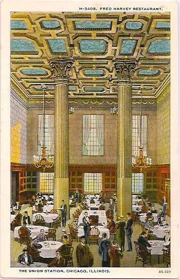 Chicago Union Station Fred Harvey Restaurant