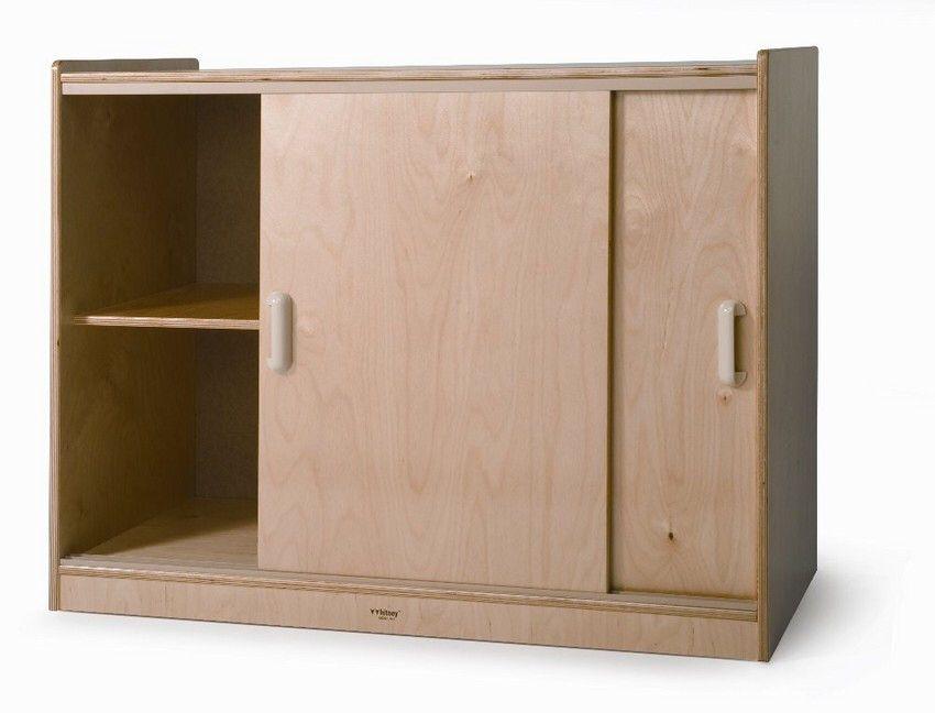 5 Compartment Classroom Cabinet With Doors Sliding Cabinet Door