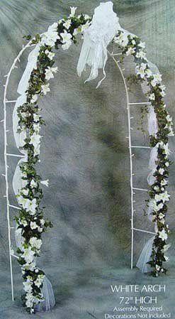 7 1 2 Foot White Indoor Or Outdoor Wedding Arch 35 99 Wedding