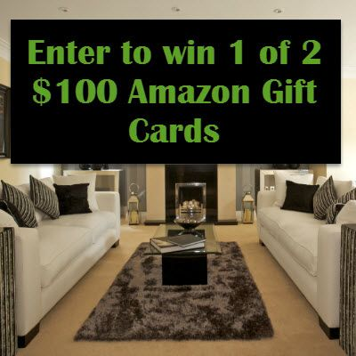 Enter for a chance to win 1 of 2 $100 Amazon Gift Cards!