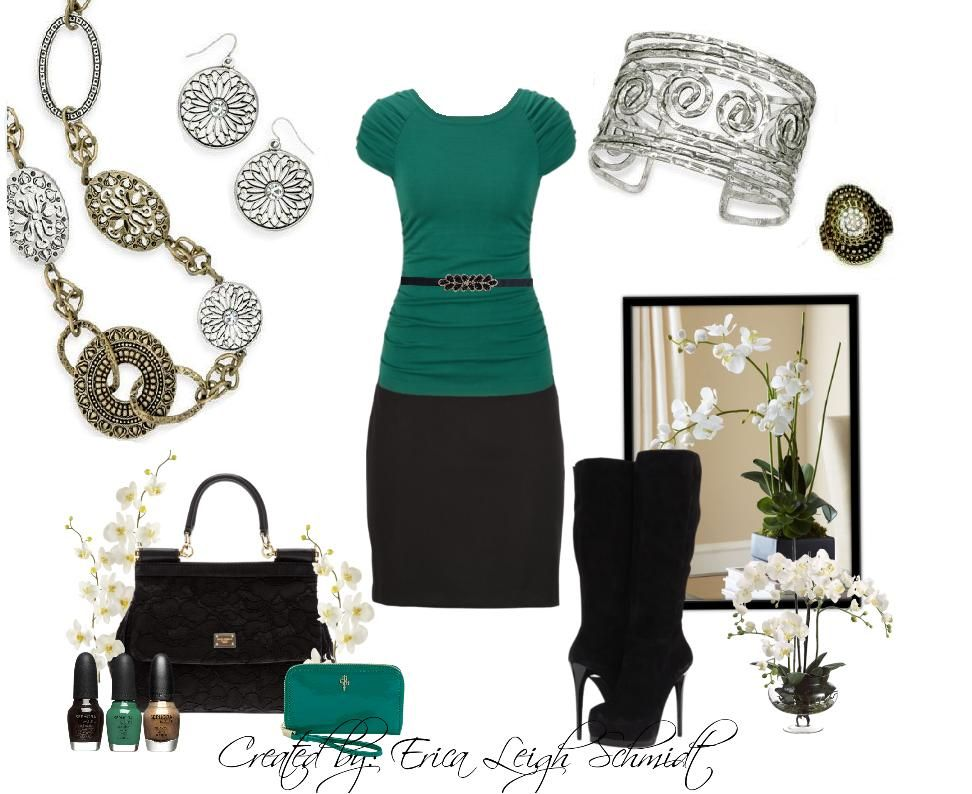 """Emerald is HOT this season.. and you know what else is? Mixed metals!! True Story ;)     Featuring: """"Francesca"""" necklace and earrings. """"Maya"""" bracelet. """"Tradition"""" ring."""