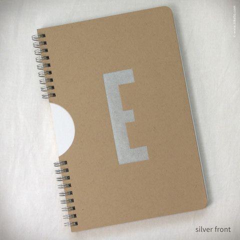 Monogram Spiral Notebook With Kraft Cover 450 Encuadernado Libreta Diseno De Unas Dissertation Binding Manchester