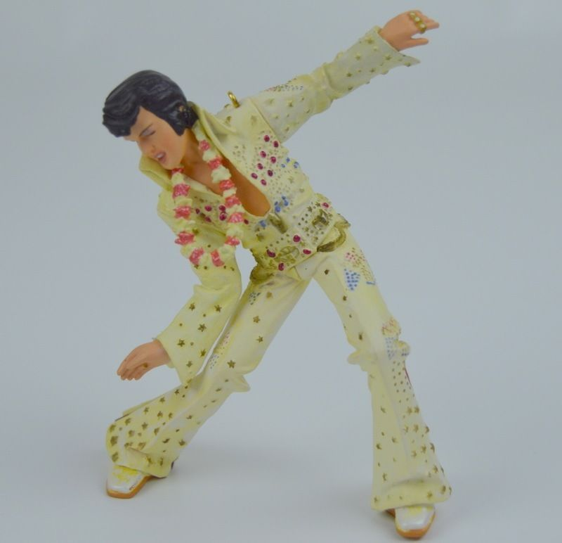 American Greeting Christmas Ornaments Part - 48: Elvis Presley Christmas Ornament American Greetings Hawaiian Lei White Suit  Dancing