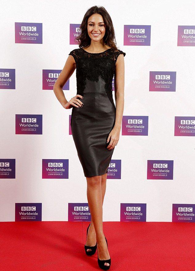 Michelle Keegan N Black Leather Mini Dress My Style Michelle