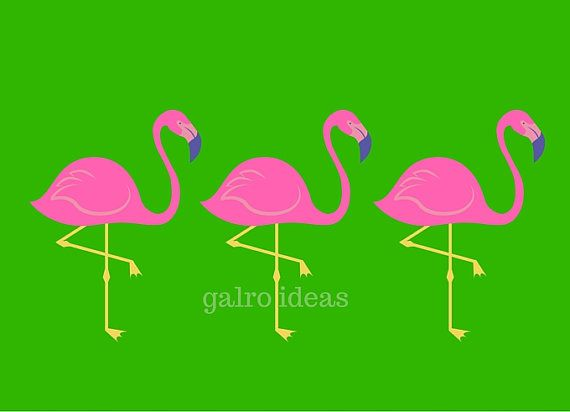 Flamingos Are Pink By Orna Montuelle On Etsy Flamingos