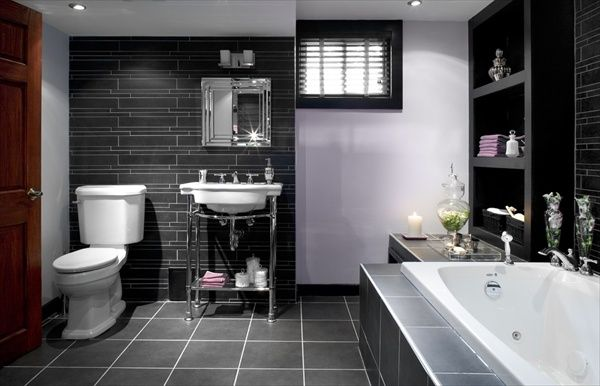 Grey Bathroom Designs snazzy white and grey bathrooms vanity with wall mirror also clear glass divider shower tubs as decorate in contemporary bathroom designs 20 Refined Gray Bathroom Ideas Design And Remodel Pictures