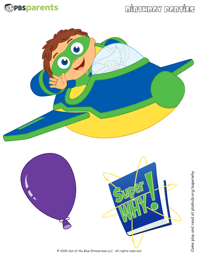 3 Of 10 Http Www Pbs Org Parents Birthday Parties Super Why Birthday Party Decorations Happy Birthday Super Why Birthday Super Why Happy Birthday Banners