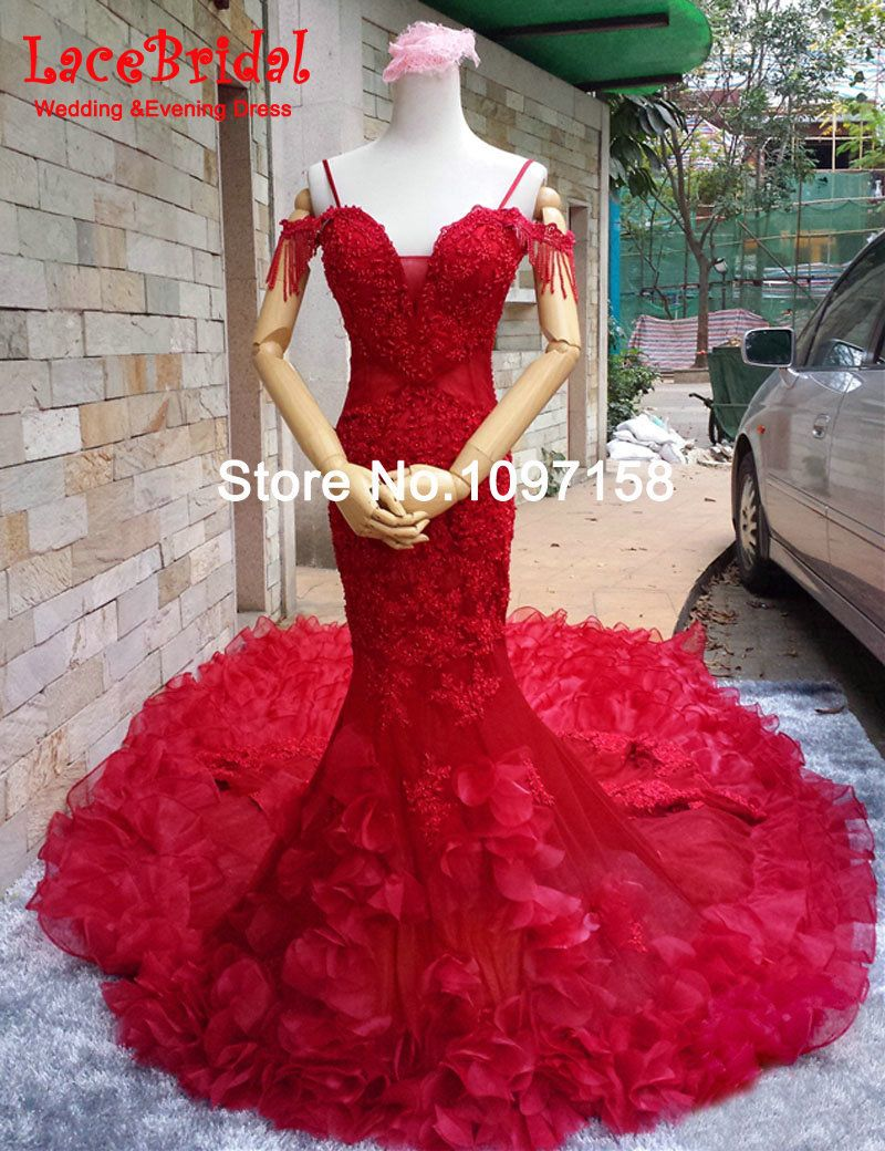 Find More Wedding Dresses Information about Luxury Lace Mermaid Dark ...