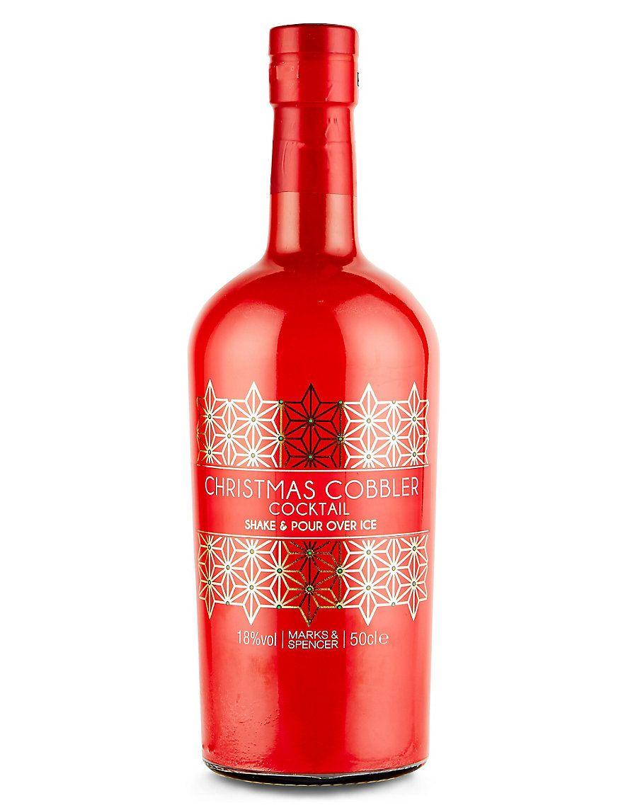 Christmas Cobbler Cocktail Case Of 6 M S Cocktails Cobbler Wine Bottle