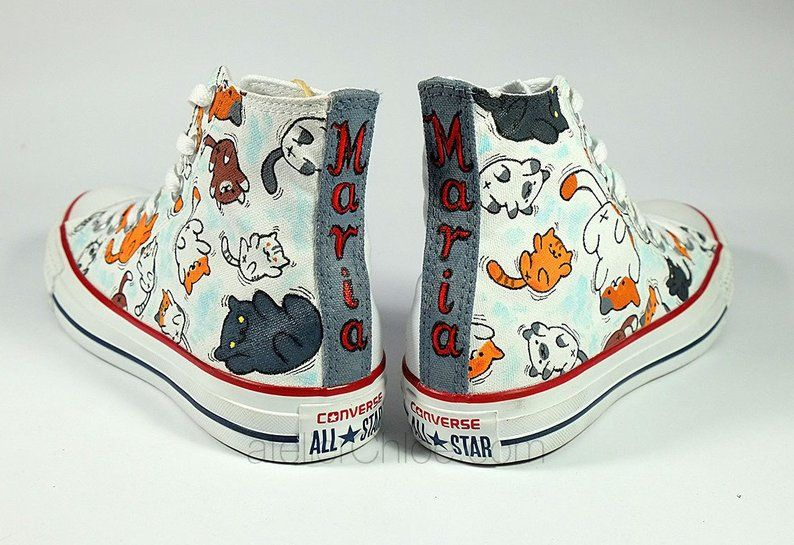 Cats converse personalized cute cats funny cats name converse your ...