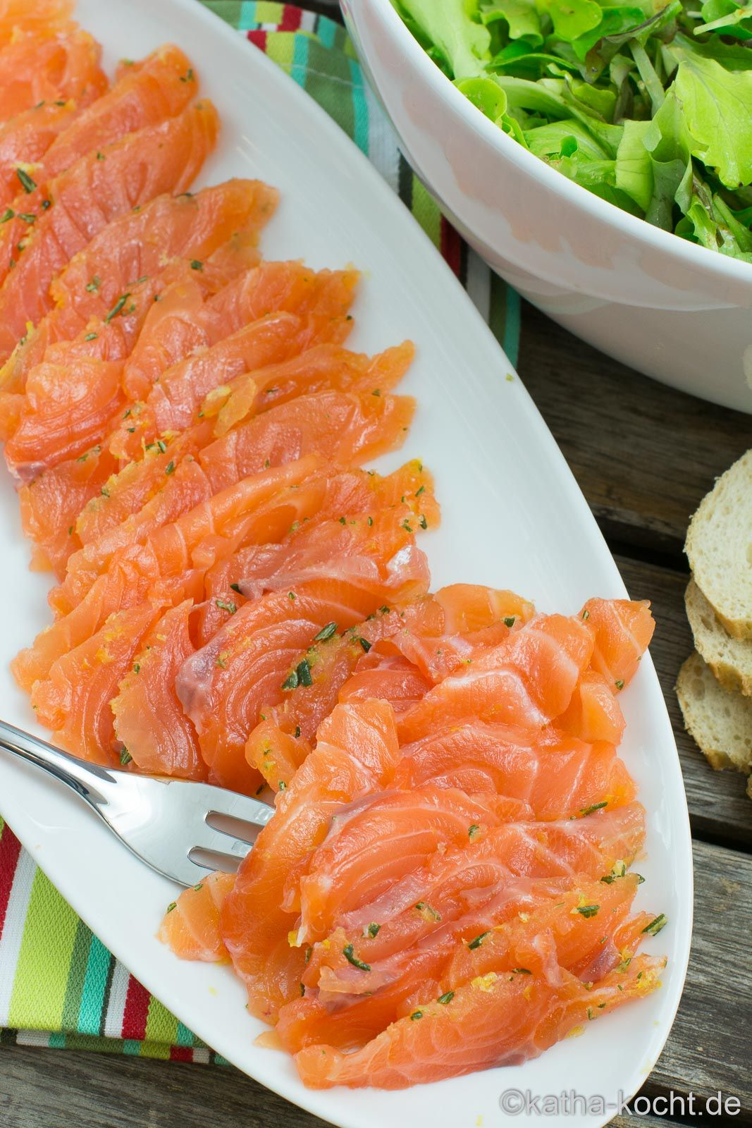 Photo of Pickled salmon with lemon and rosemary – Katha-cooks!