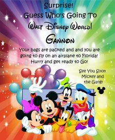 DisneySurpriseTripLetter WDW Tips Pinterest - Disney surprise letter template