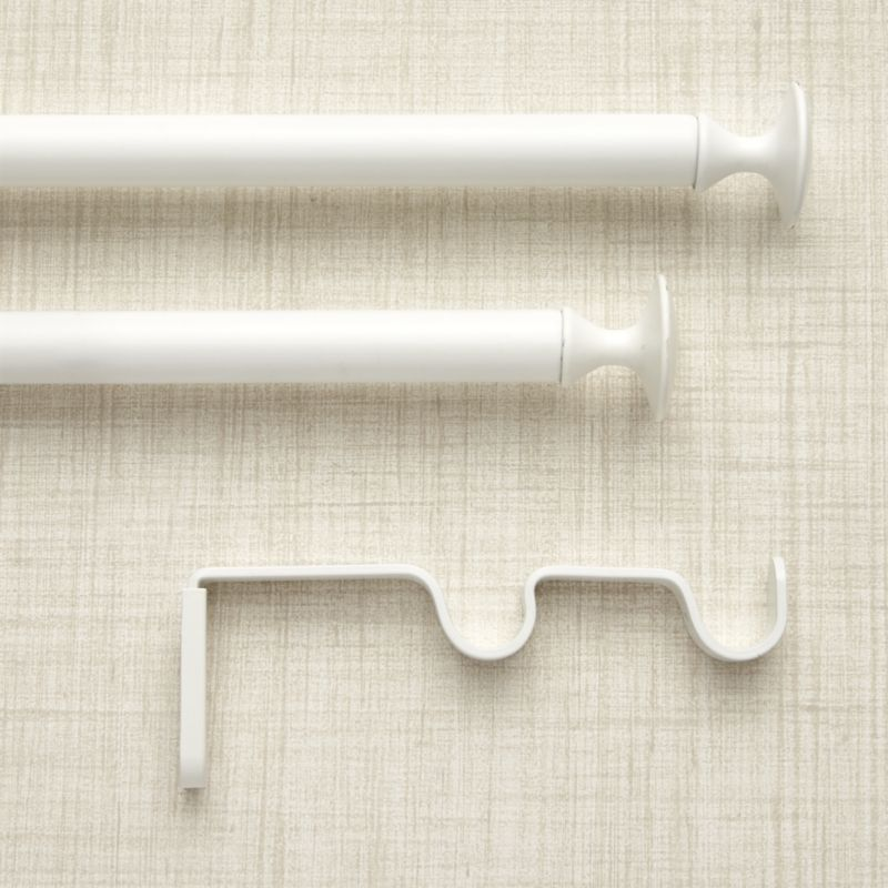Double White Curtain Rod Crate And Barrel White Curtain Rod