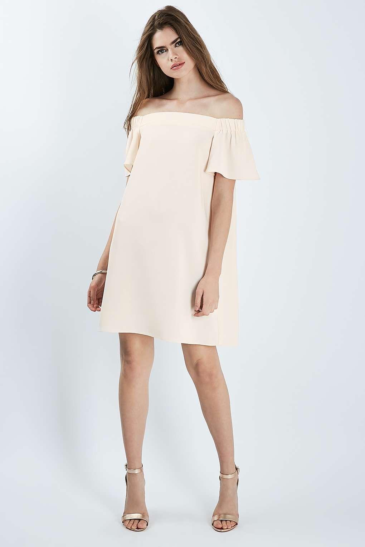 Structured Bardot Dress - Topshop