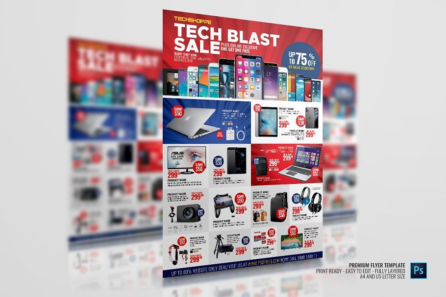 Ad: Electronic and Gadget Sale Flyer by PSDPixel on Creative Market. Electronic and Gadget…