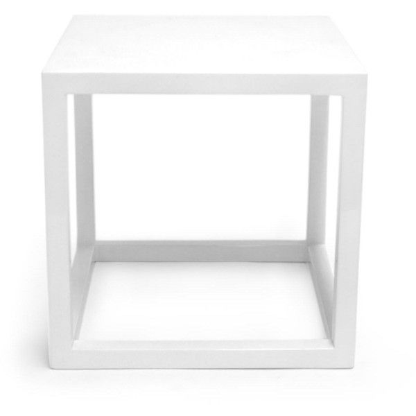 White Lacquer Cube Side Tables 250 Liked On Polyvore