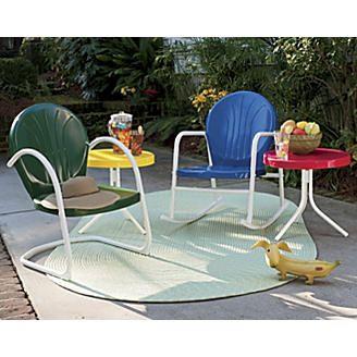 Retro Metal Lawn Furniture From Seventh Avenue ®