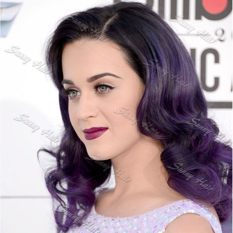 Sunny Hair Synthetic Lace Front Wig Katy Perry Pastel Dark Root To ...