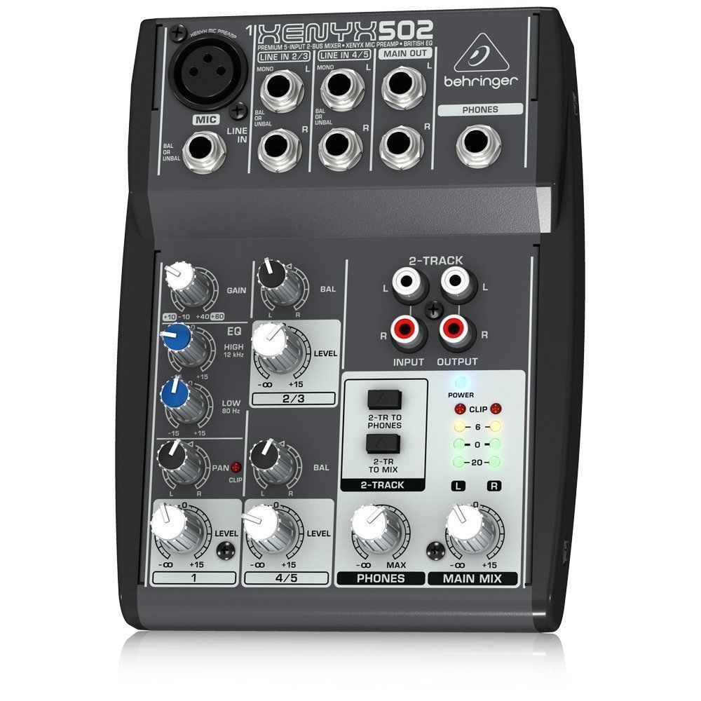 behringer xenyx 502 podcastudio usb podcast studio interface mixer mic 5 new behringer. Black Bedroom Furniture Sets. Home Design Ideas