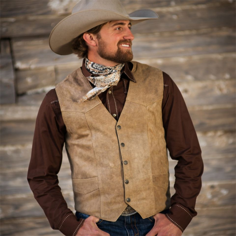 Chisum Leather Vest Cattle Kate Men S Leather Vest Mens Leather Vest Mens Western Wear Men Vest Outfits [ 960 x 960 Pixel ]