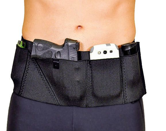 Concealed Carry Holster Sports Belt Holds Cell Phone Keys