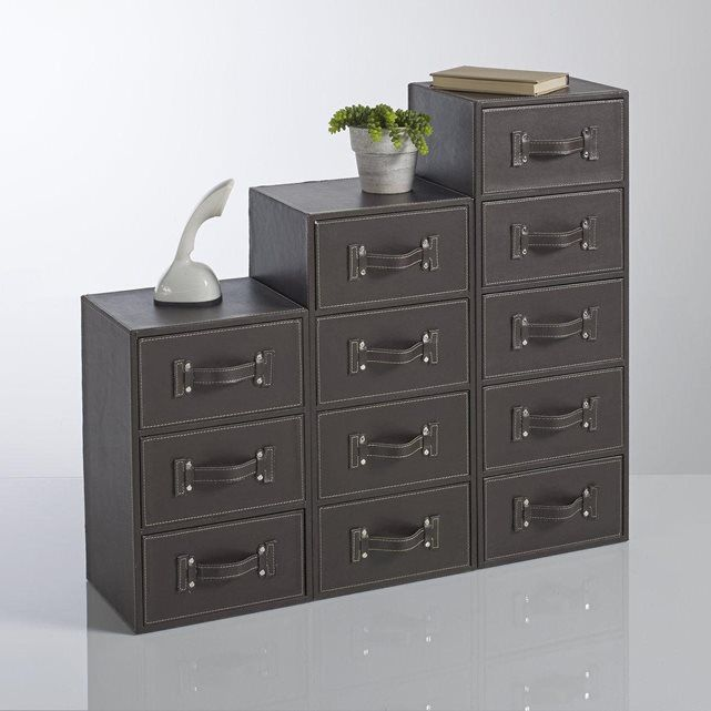 chiffonnier imitation cuir rockford decov pinterest. Black Bedroom Furniture Sets. Home Design Ideas