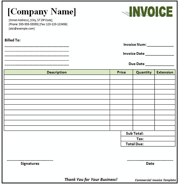 Open Office Invoice Template , Open Office Invoice Template How - example of commercial invoice