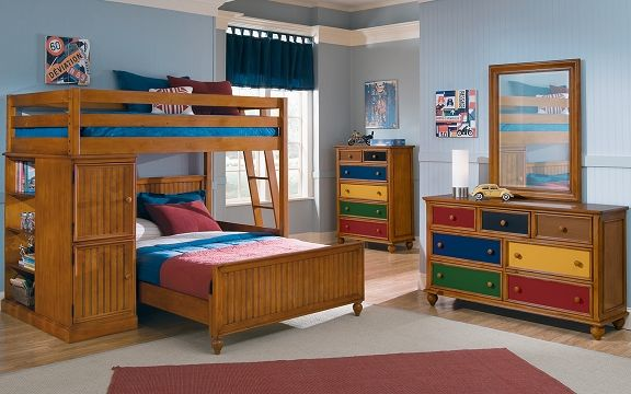 Colorworks pine ii kids furniture collection value city - Childrens pine bedroom furniture ...