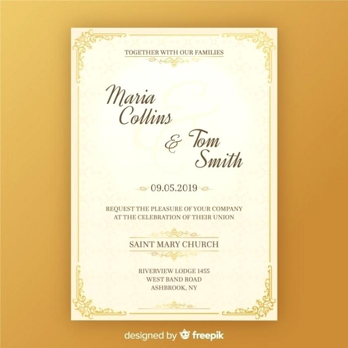 Wedding Invitation Format Free Download Marriage Invitation Card Format In English Free Download Di 2020 Undangan