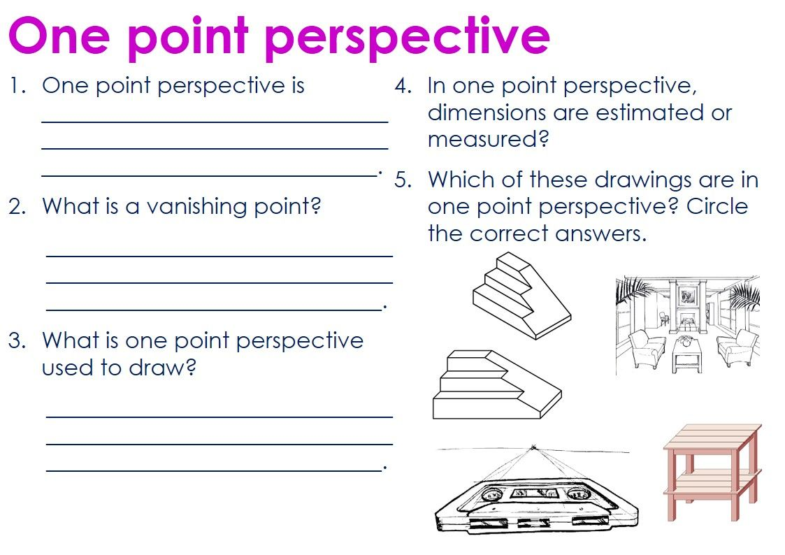 One Point Perspective Questions