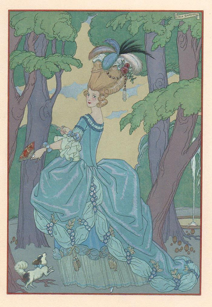 Fete galante by Paul Verlaine, illustrations by Georges Barbier