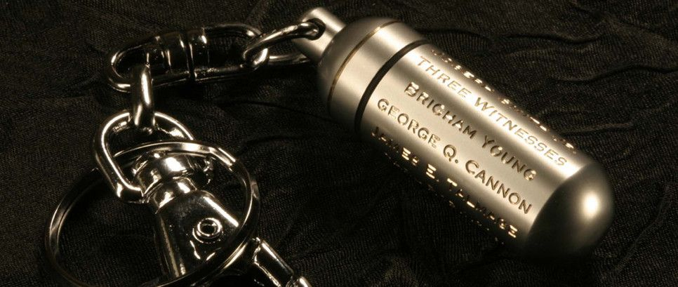 LDS Consecrated Oil Vials hand engraved with Priesthood