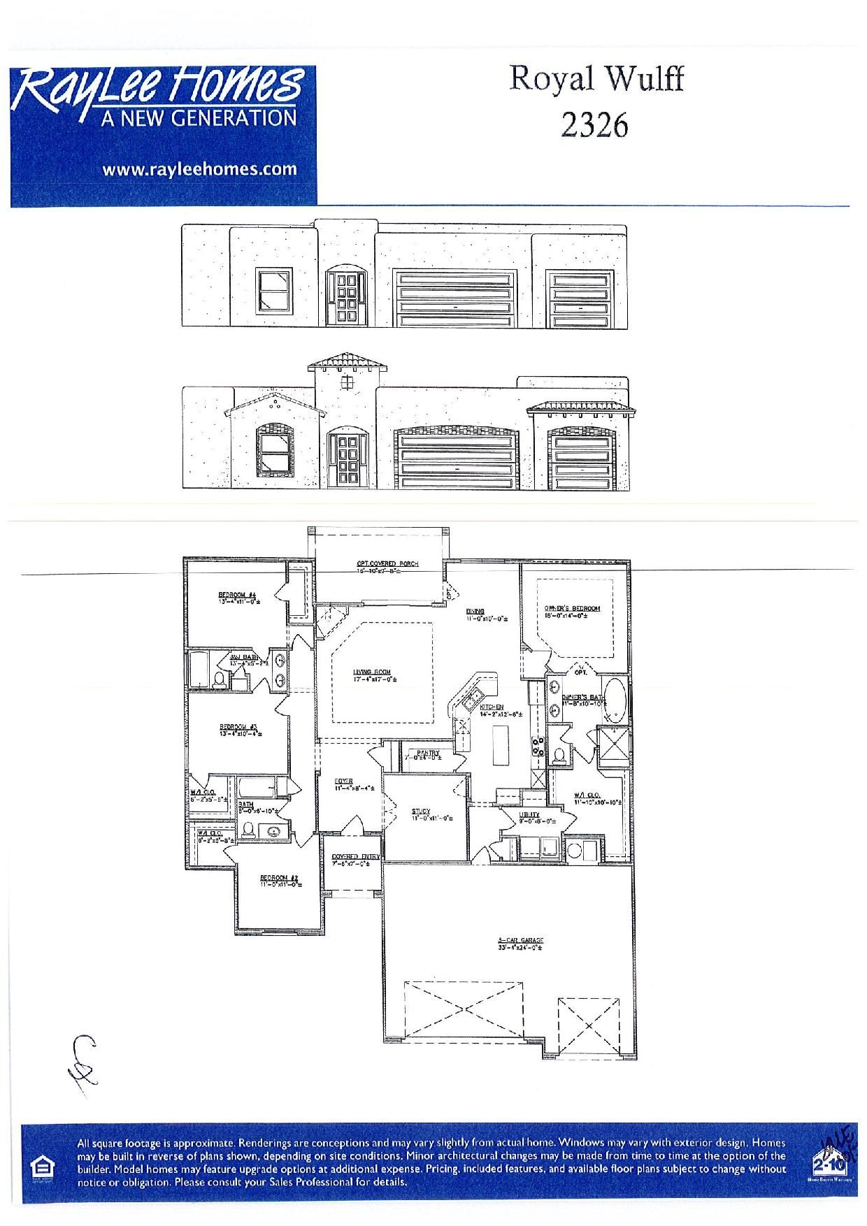 Raylee Homes Royal Wulff Floor Plan Raylee Homes Floor